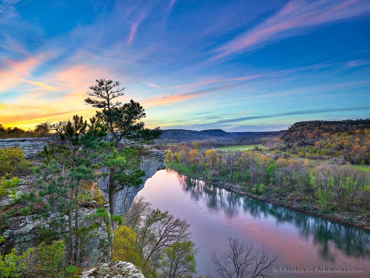 12 Sunset at Calico Rock on the White River in Arkansas